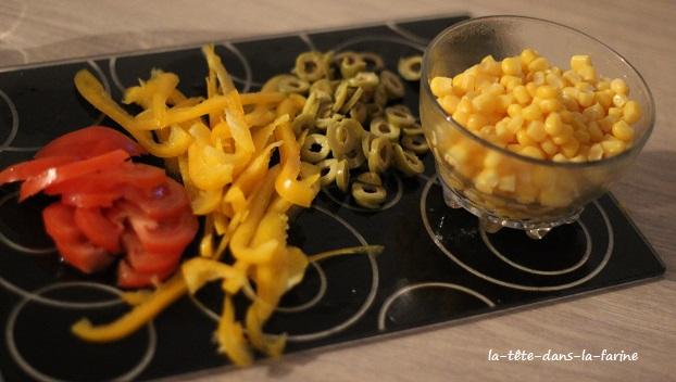 Baguettines aux légumes