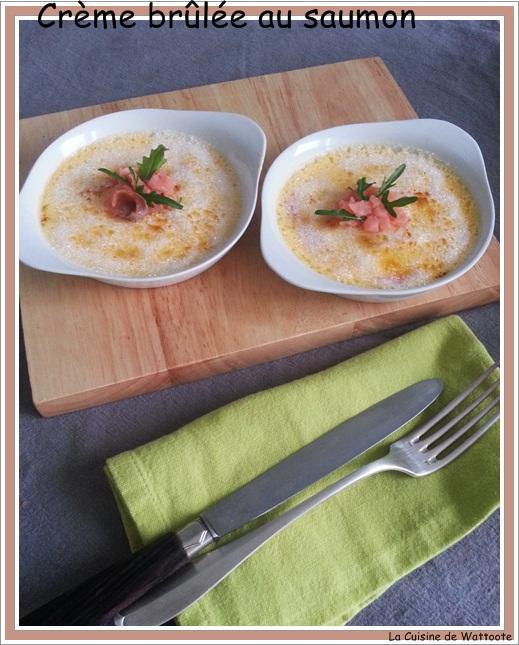 crème brûlée saumon