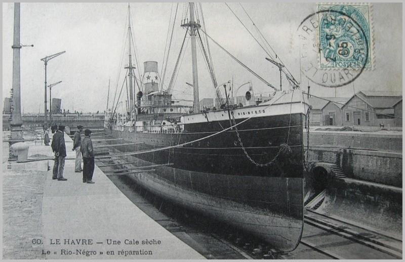Havre - Départ du Havre du Rio-Négro en 1889 160201030611548064