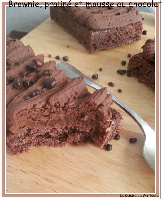 brownie praliné mousse chocolat