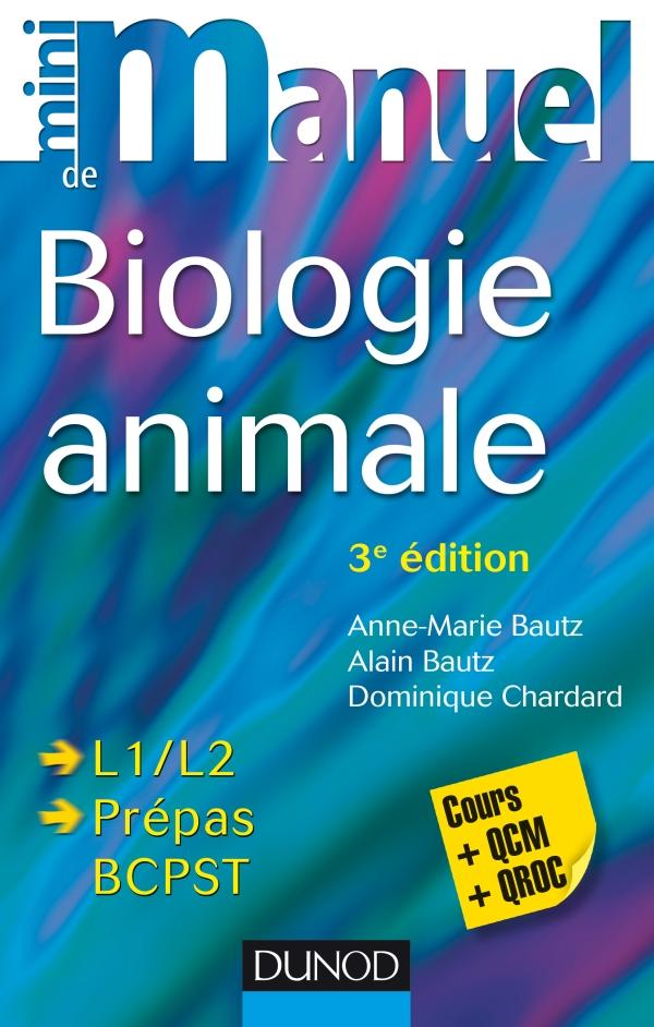 Mini manuel de Biologie animale : Cours et QCM/QROC