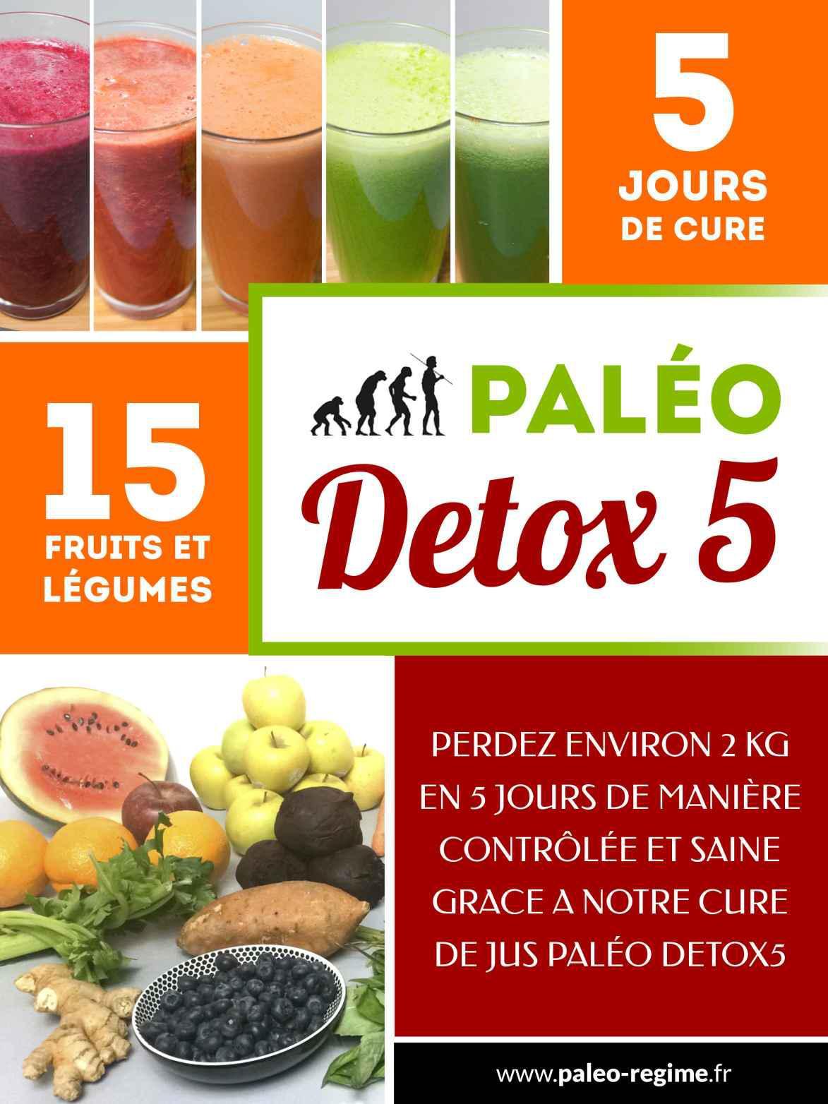 Paléo DETOX5: Vous voulez perdre du poids et vous sentir en pleine forme? Découvrez la cure Paléo DETOX5!