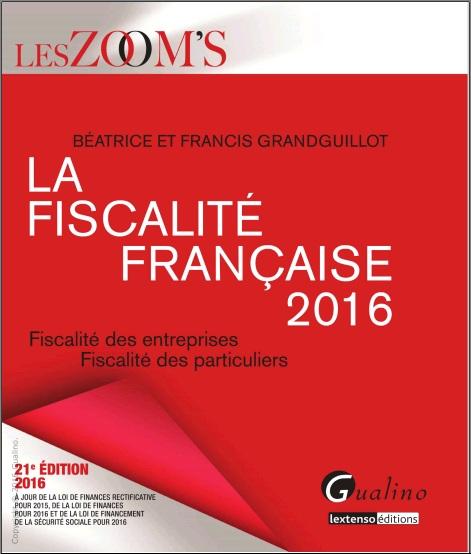 La fiscalité française 2016