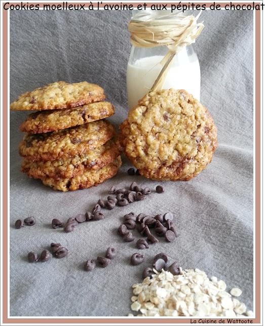 cookies moelleux avoine chocolat