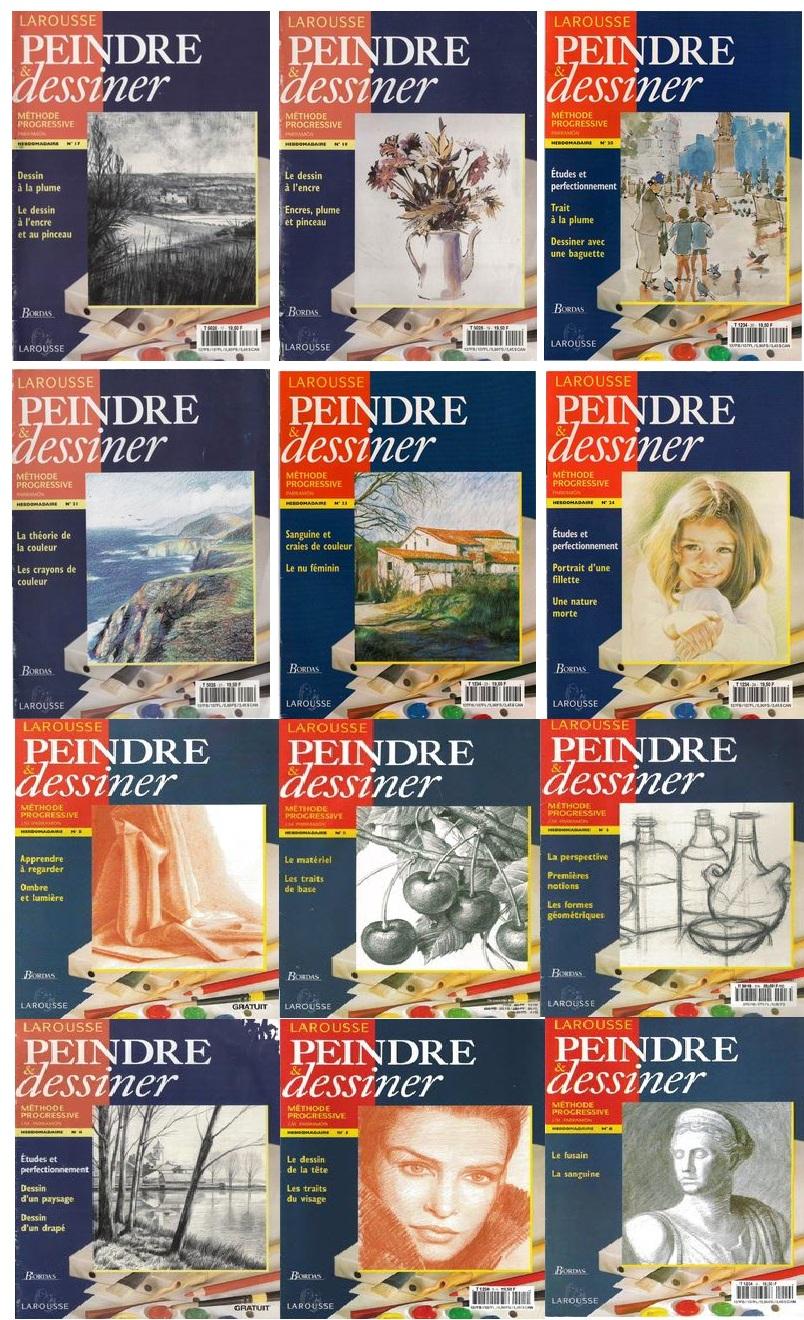 Collection Larousse Peindre et Dessiner 1 à 25
