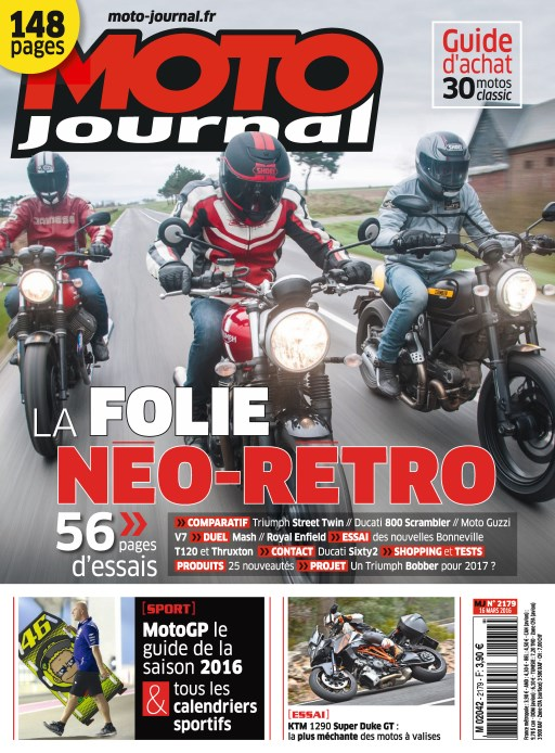 Moto Journal N°2179 - 16 Mars 2016