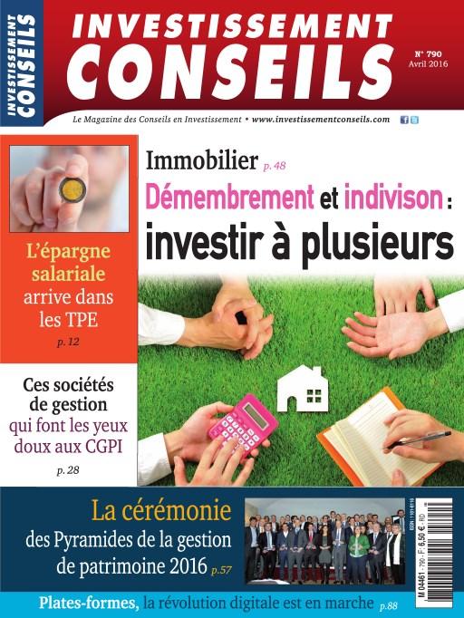 Investissement Conseils N°790 - Avril 2016