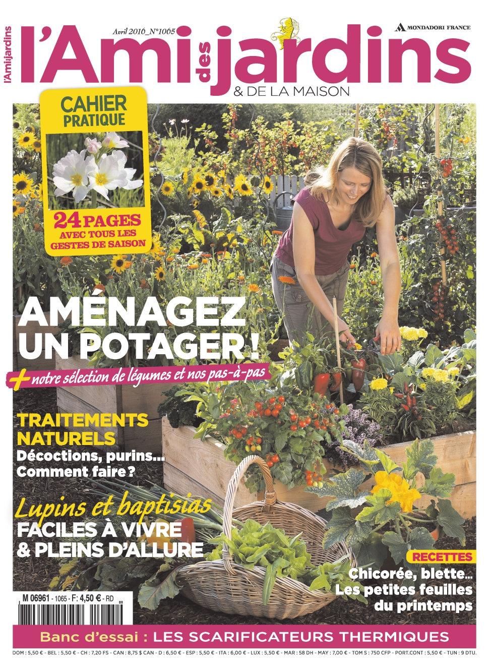 L'Ami des Jardins N°1065 - Avril 2016