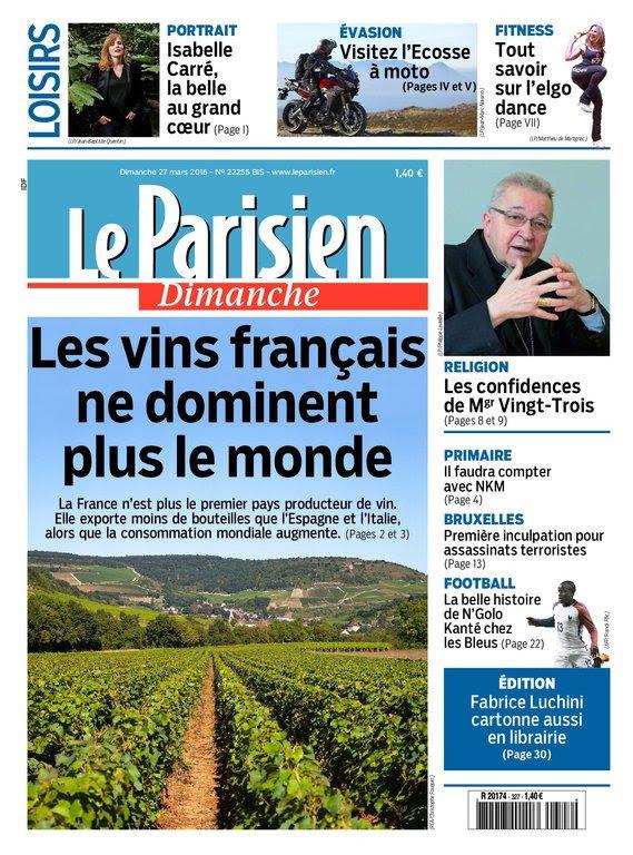 Le Parisien   Guide de votre dimanche 27 mars 2016