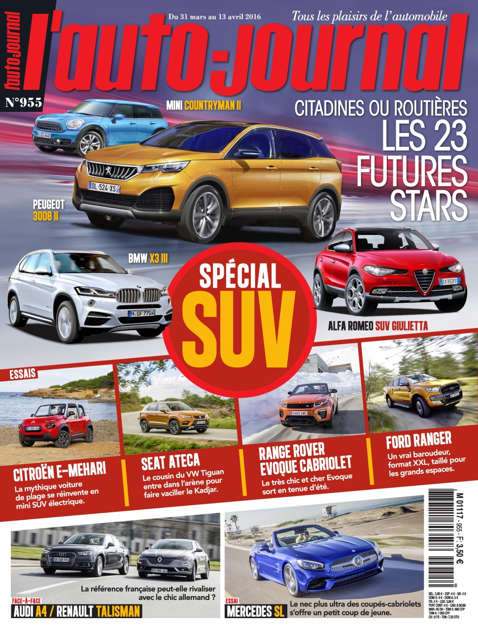 L'Auto-Journal N°955 - 31 Mars au 13 Avril 2016