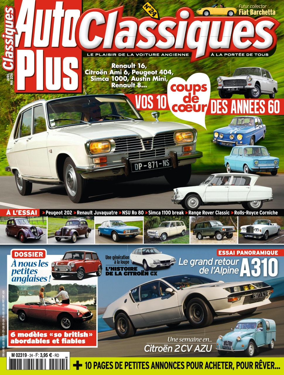 auto plus classiques n 24 avril mai 2016 t l charger journal magazine livre bd comics manga. Black Bedroom Furniture Sets. Home Design Ideas