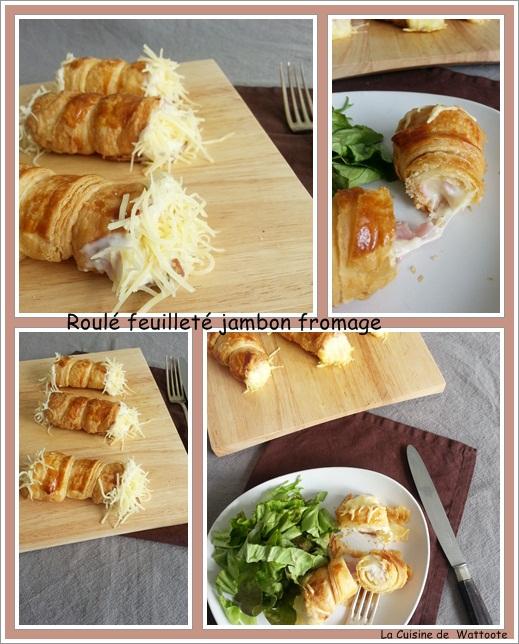 roulé feuilleté jambon fromage