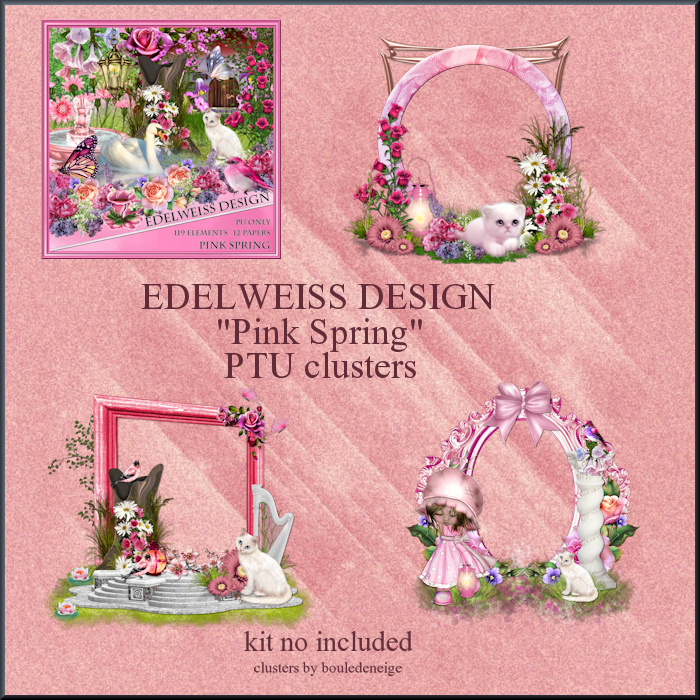 preview clusters pink spring