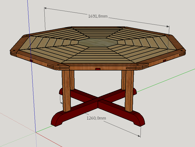 Table octogonale - copain des copeaux