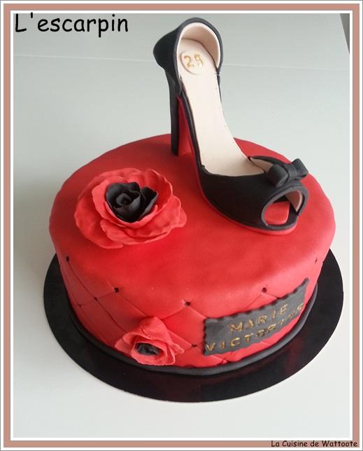 gâteau escarpin