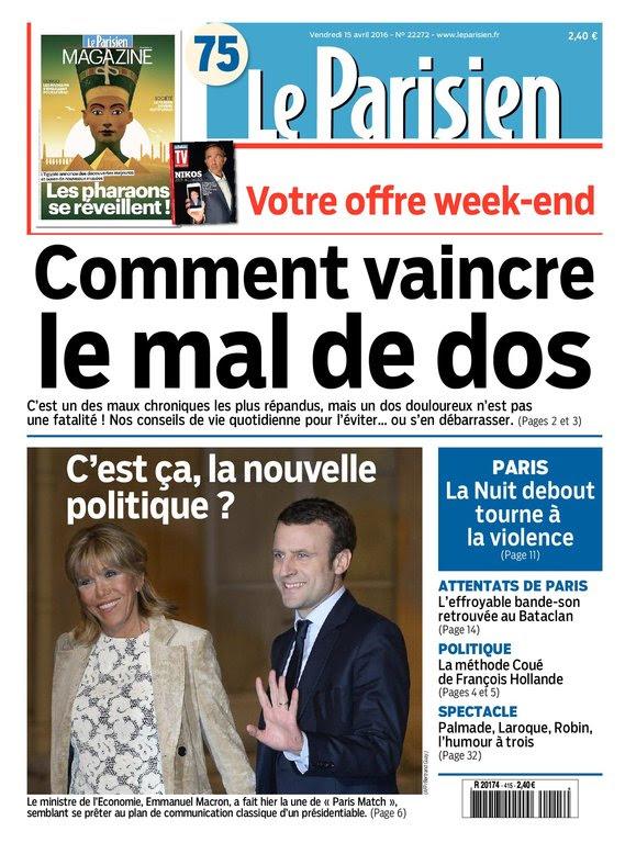 Le Parisien   journal de Paris   Magazine du vendredi 15 avril 2016