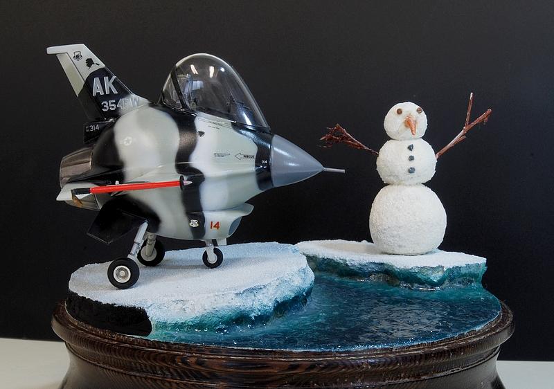 """diorama - Eggplane Diorama F-16 """"Arctic aggressor"""" Alaska 160419110154832327"""