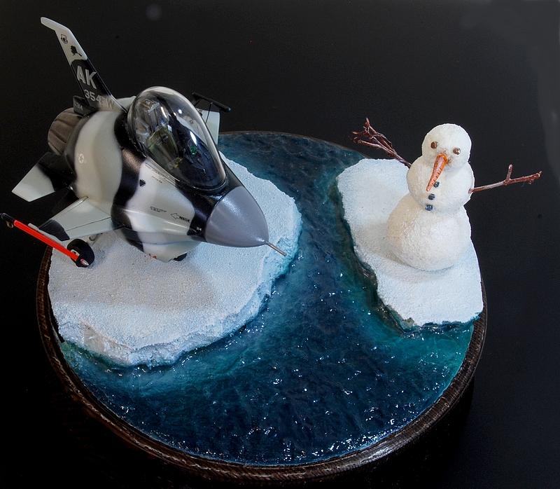 """diorama - Eggplane Diorama F-16 """"Arctic aggressor"""" Alaska 160419110155214669"""