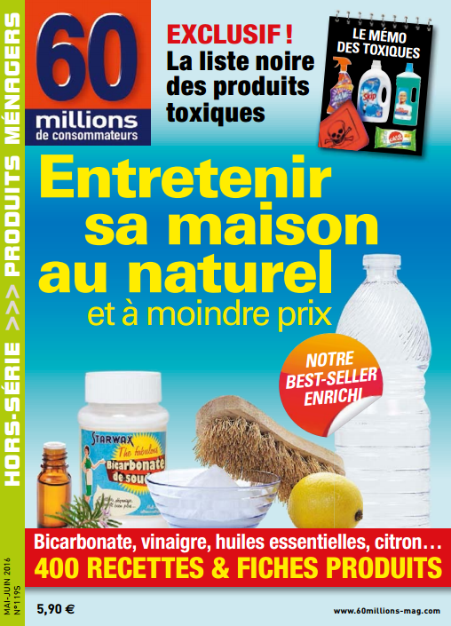 60 Millions de Consommateurs Hors-Série N°1195 Mai-Juin 2016