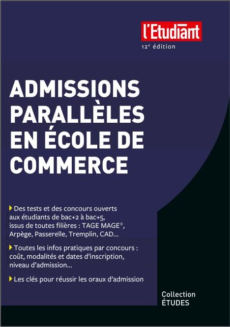 télécharger Admissions parallèles en école de commerce