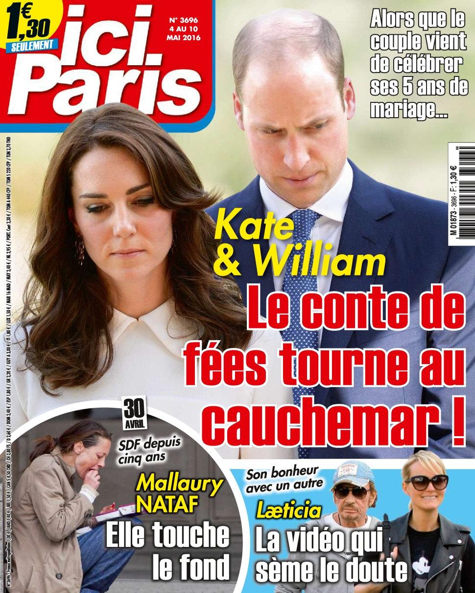 Ici Paris N°3696 - 4 au 10 Mai 2016