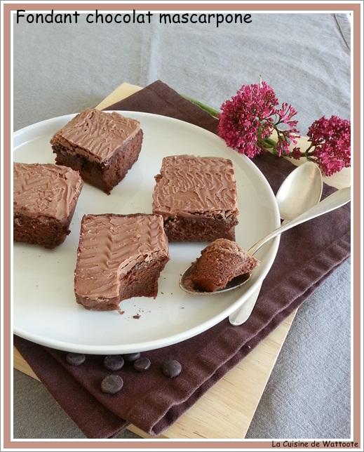 fondant chocolat mascarpone