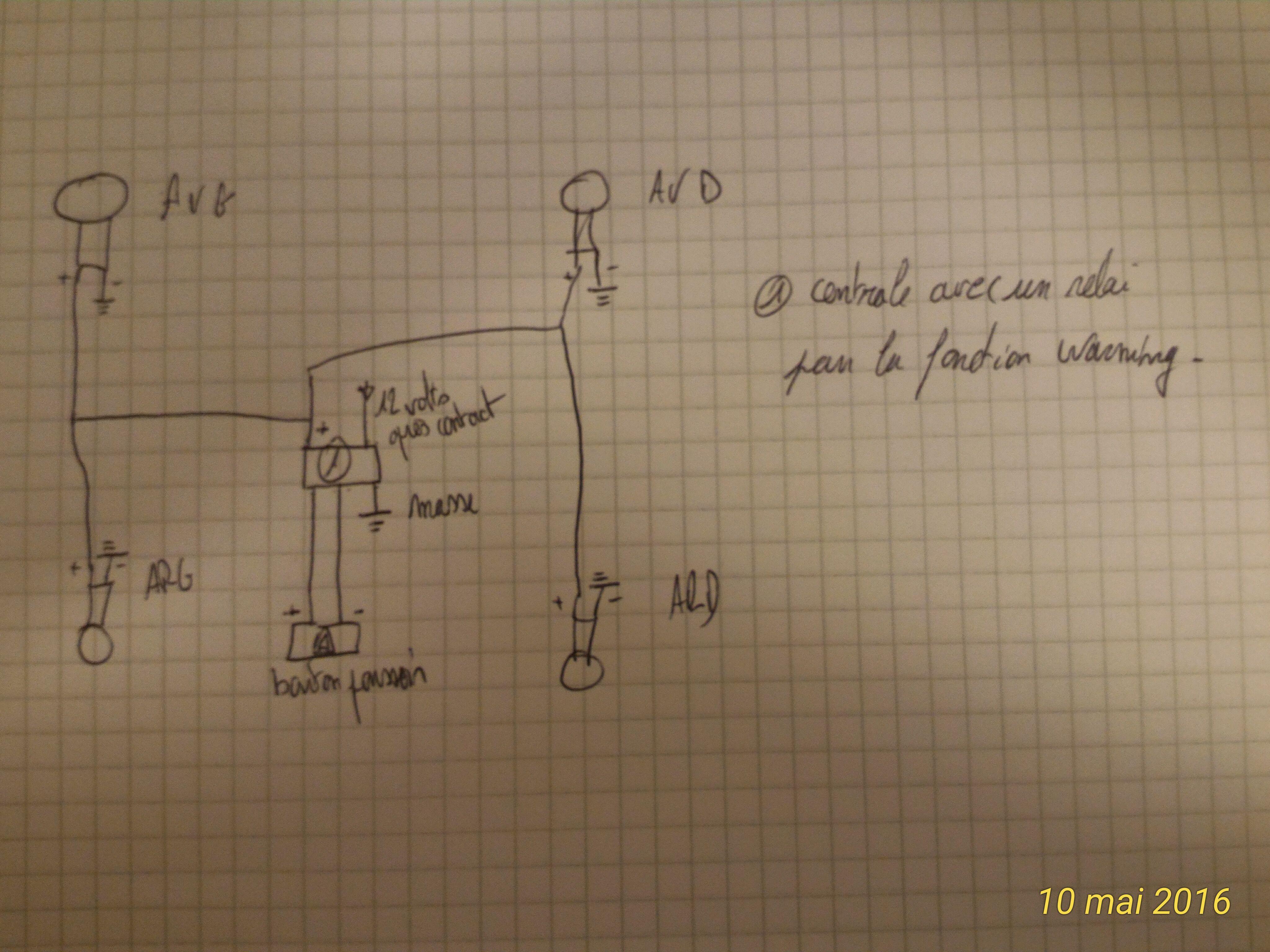 DEL Clignotants complémentairecomplémentaire voyant clignotant12 VE-Autorisation final Stop