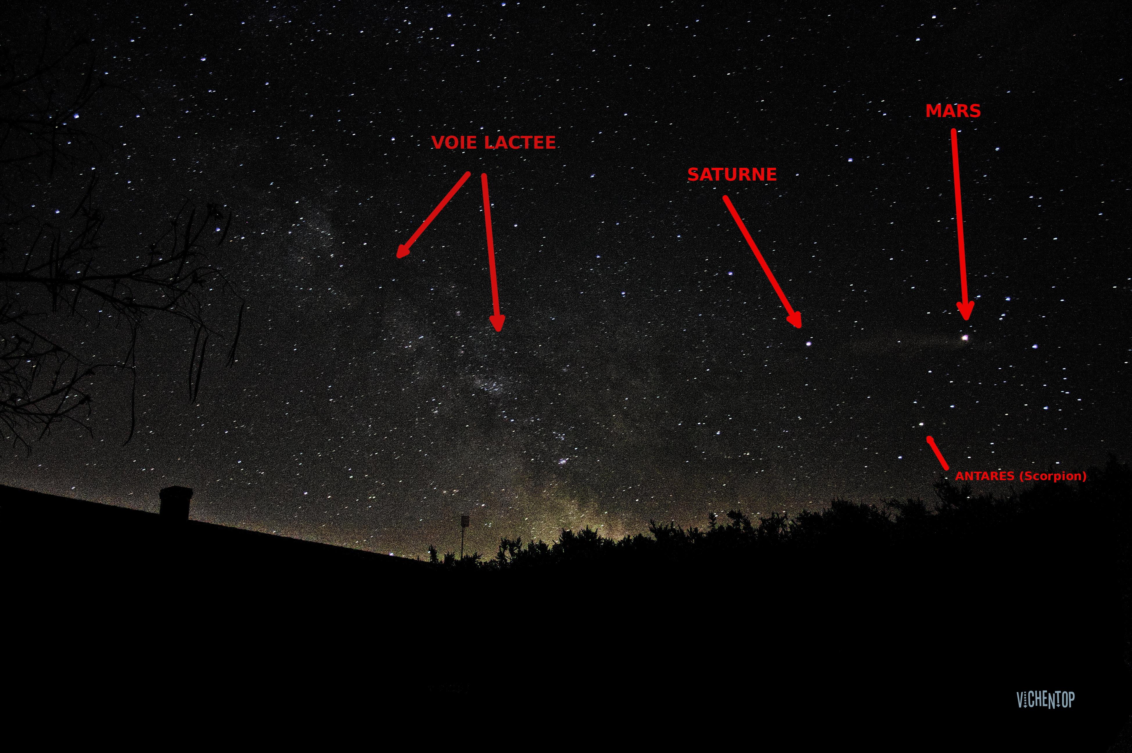 Trio Voie Lactée, Saturne, Mars_2