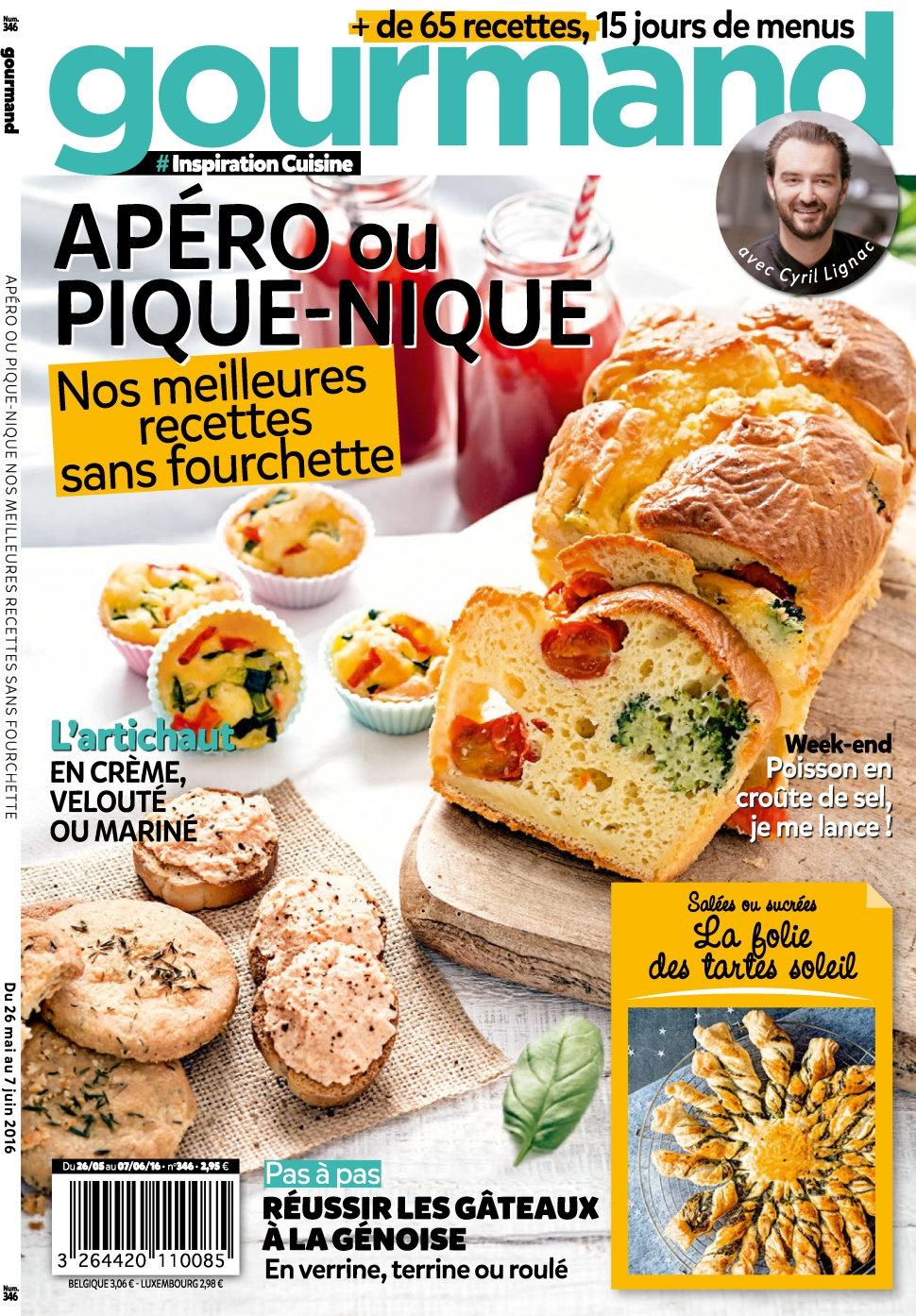 Gourmand N°346 - 26 Mai au 07 Juin 2016