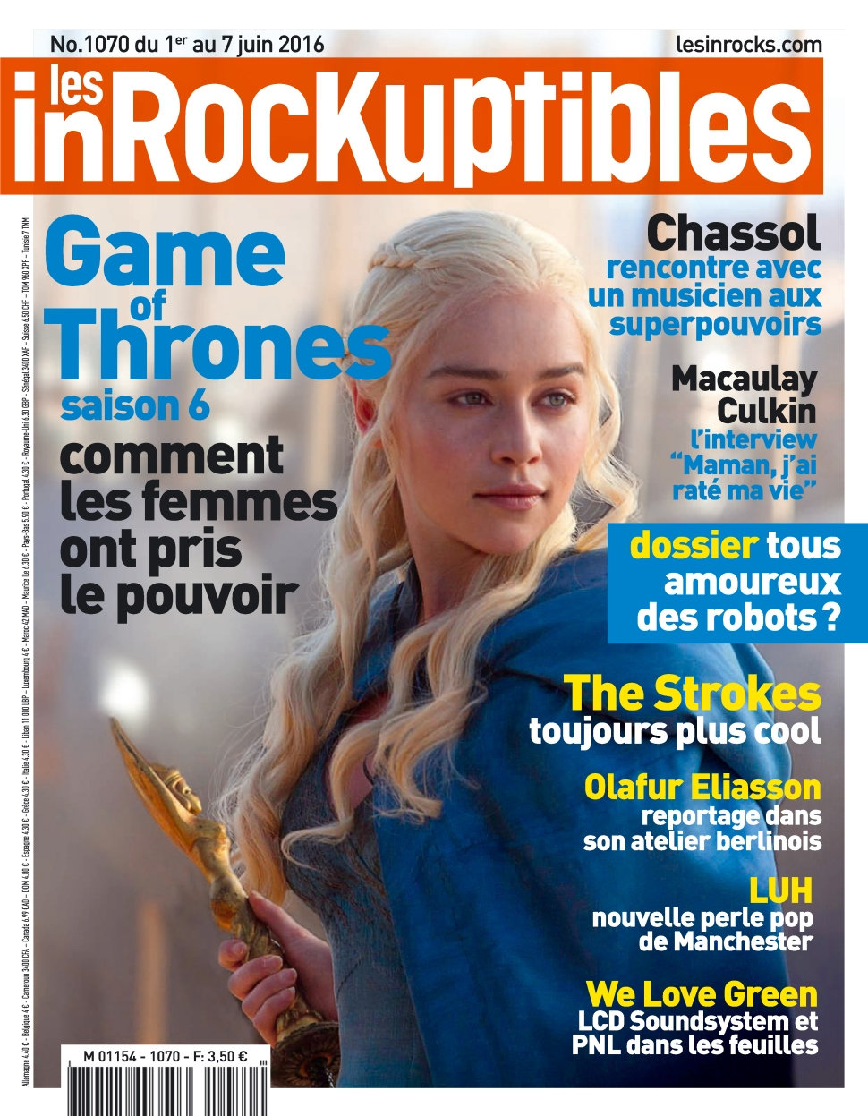 Les Inrockuptibles N°1070 du 1 au 7 Juin 2016