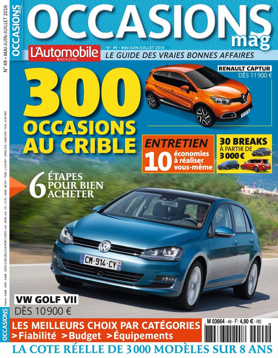 L'Automobile Occasions N°49 - Juin/Juillet 2016