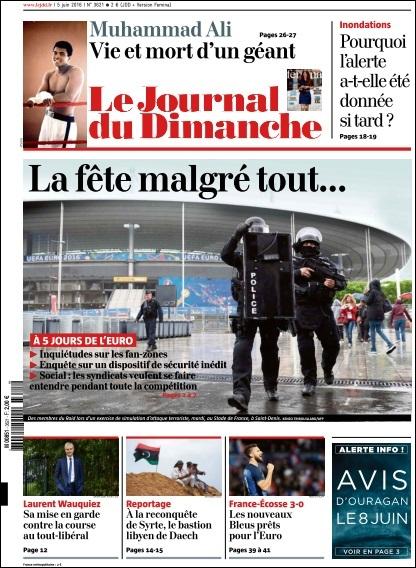 Le Journal du Dimanche N° 3621 du 5 Juin 2016
