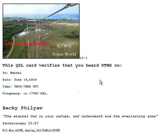 eQSL de KTWR (Guam) 160616092213155988