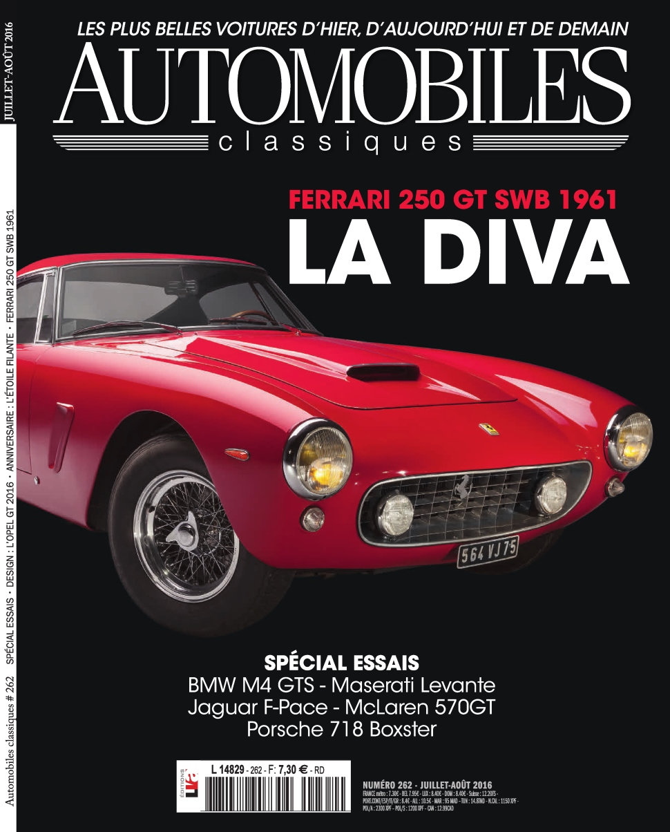 Automobiles Classiques N°262 - Juiillet/Aout 2016