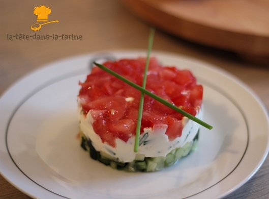 tartare concombre tomate fromage