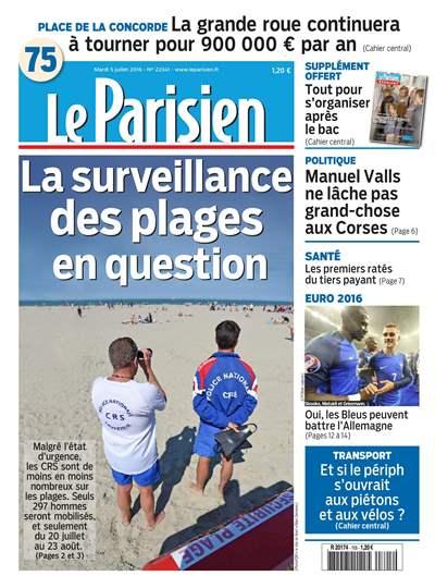 Le Parisien et journal de Paris et supplément du mardi 05 juillet 2016