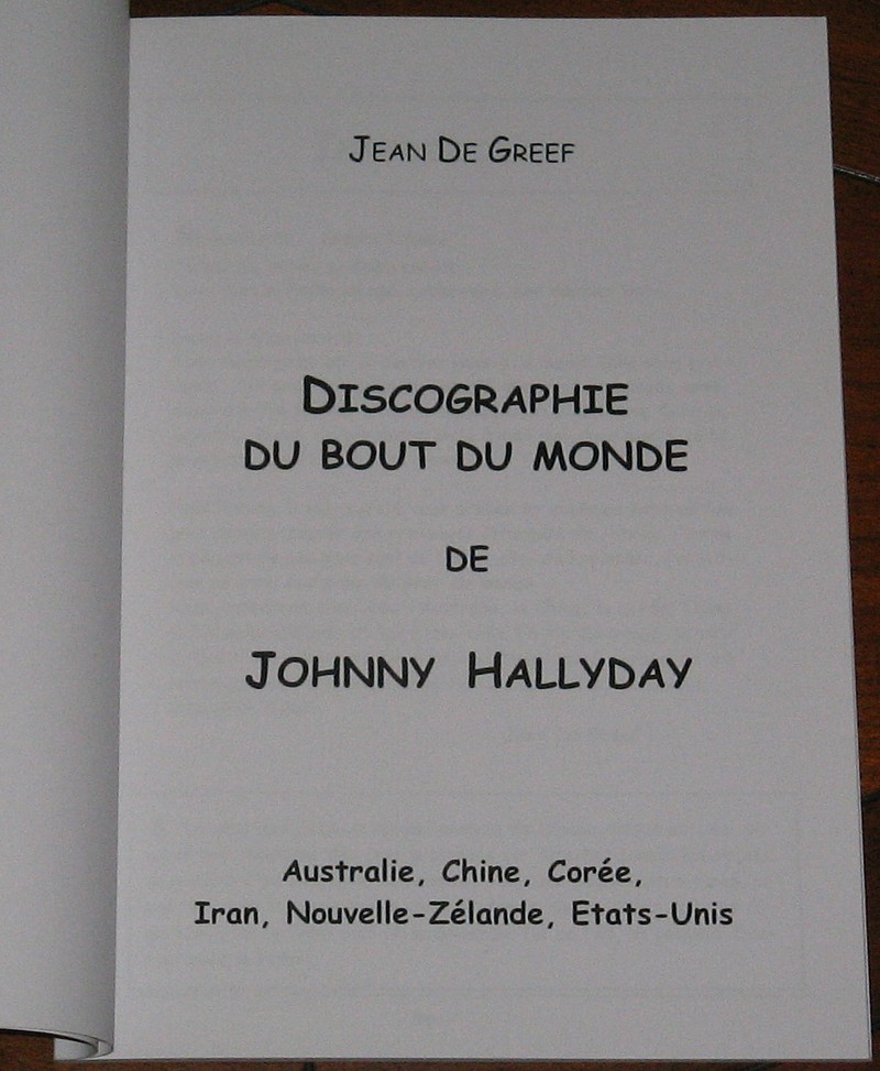 JOHNNY HALLYDAY: DISCOGRAPHIE DU BOUT DU MONDE 160709082225814431