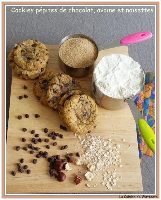 cookies pepites chocolat avoine et noisettes