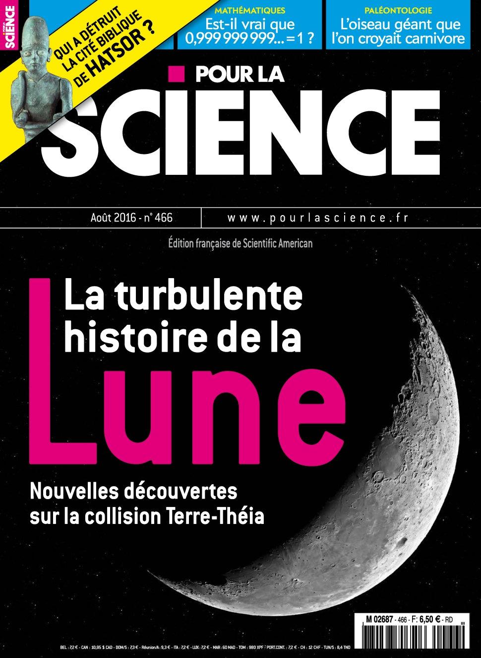 Pour la Science N°466 - Aout 2016