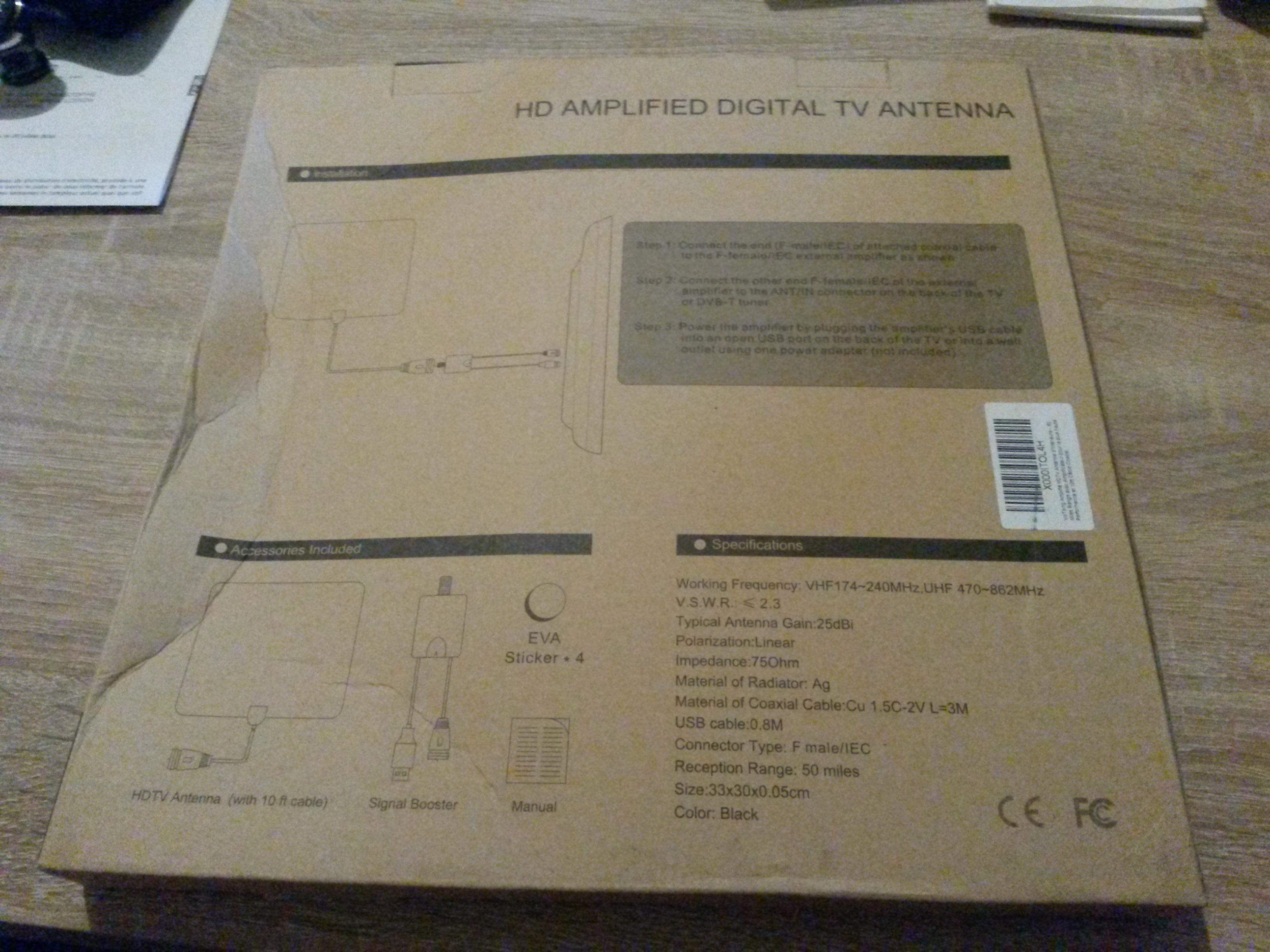 Test antenne tv num rique hdtv d 39 int rieur ultraplate for Antenne tele interieur