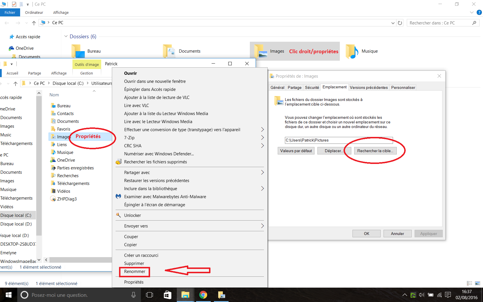 windows 10  renommer les dossiers de  u0026quot base u0026quot    documents