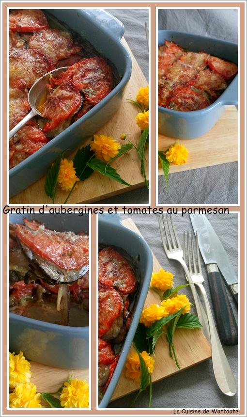 gratin aubergines tomates parmesan