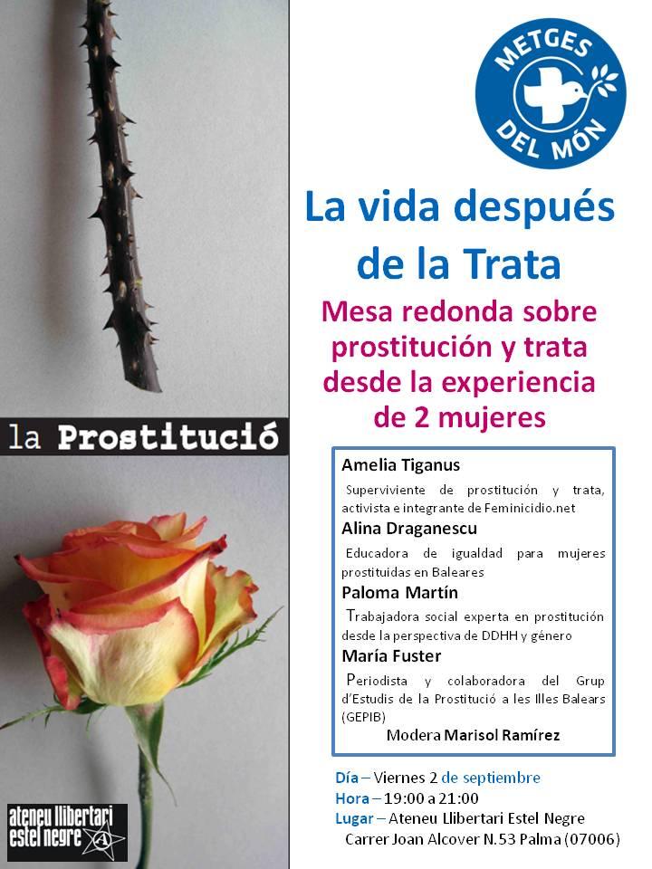 «La prostitució. La vida després del tràfic». Taula rodona sobre prostitució i tràfic des de l'experiència de dues dones (02-09-16)