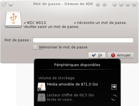 KDE automount LUKS partition