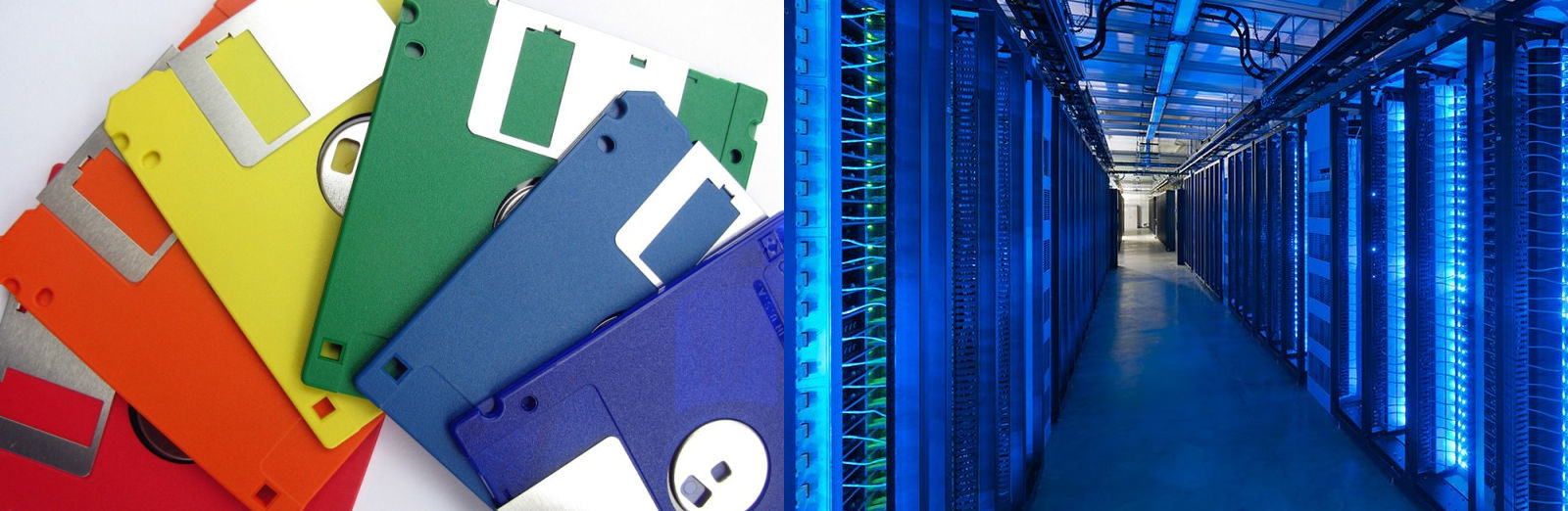 floppy disk and datacenter