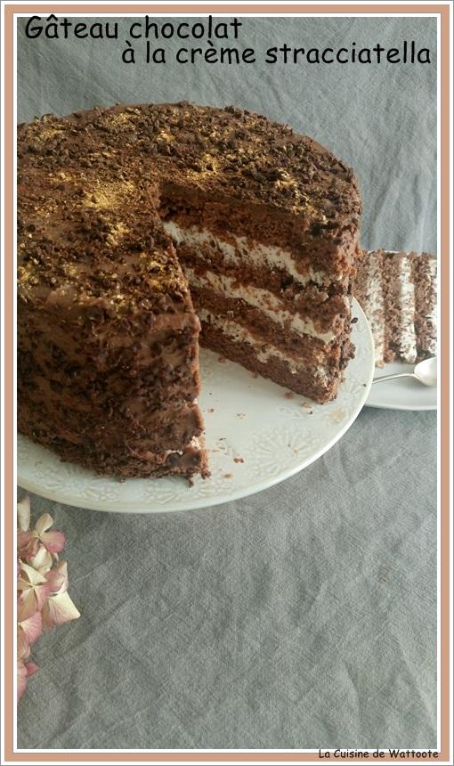 gâteau crème straciatella