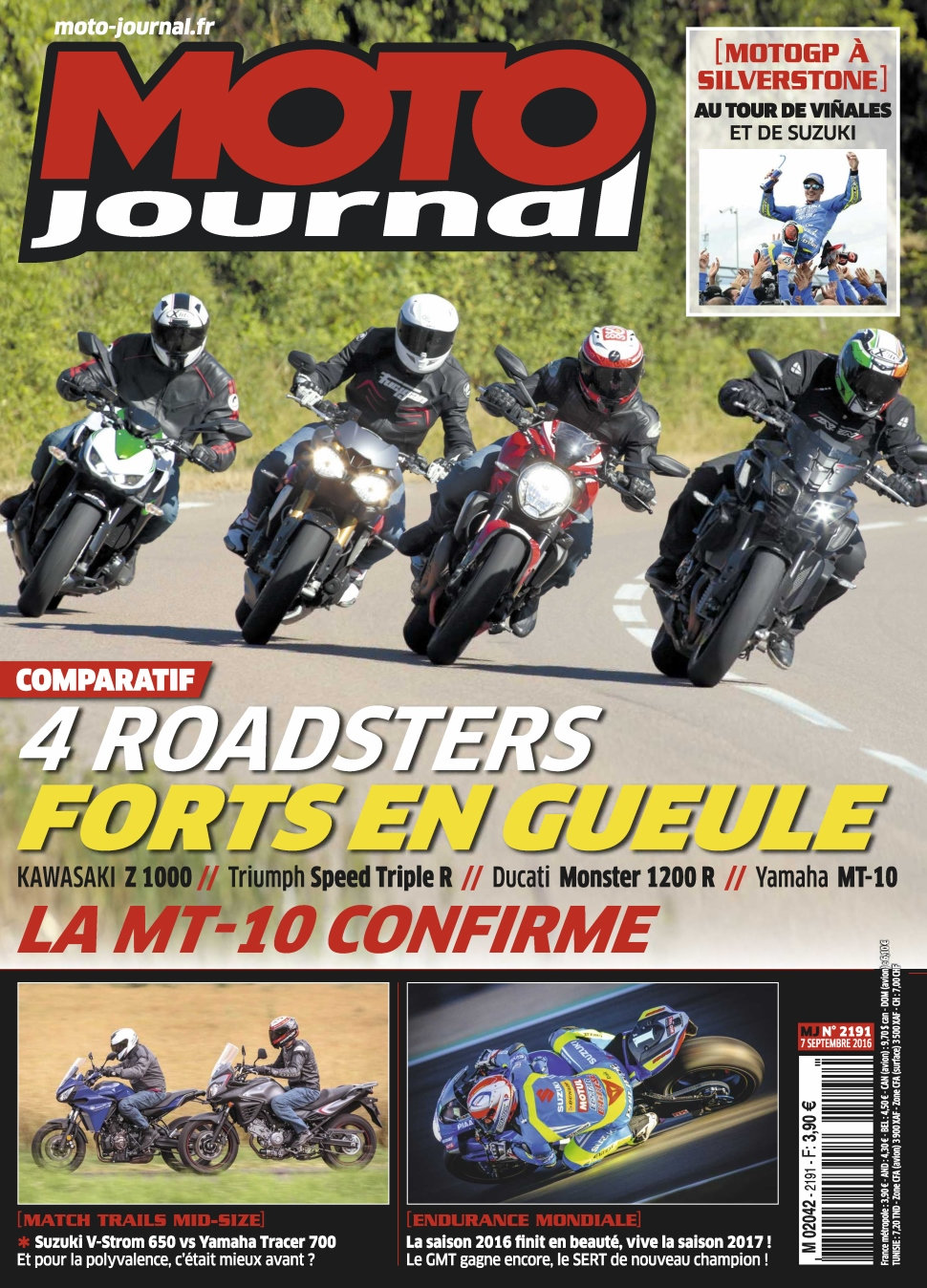 Moto Journal N°2191 - 7 Septembre 2016