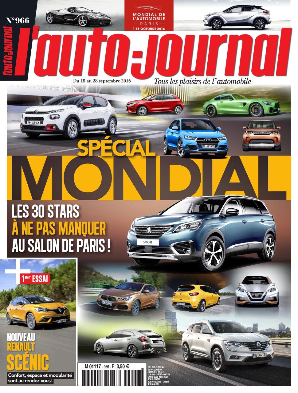 L'Auto-Journal N°966 - 15 au 28 Septembre 2016