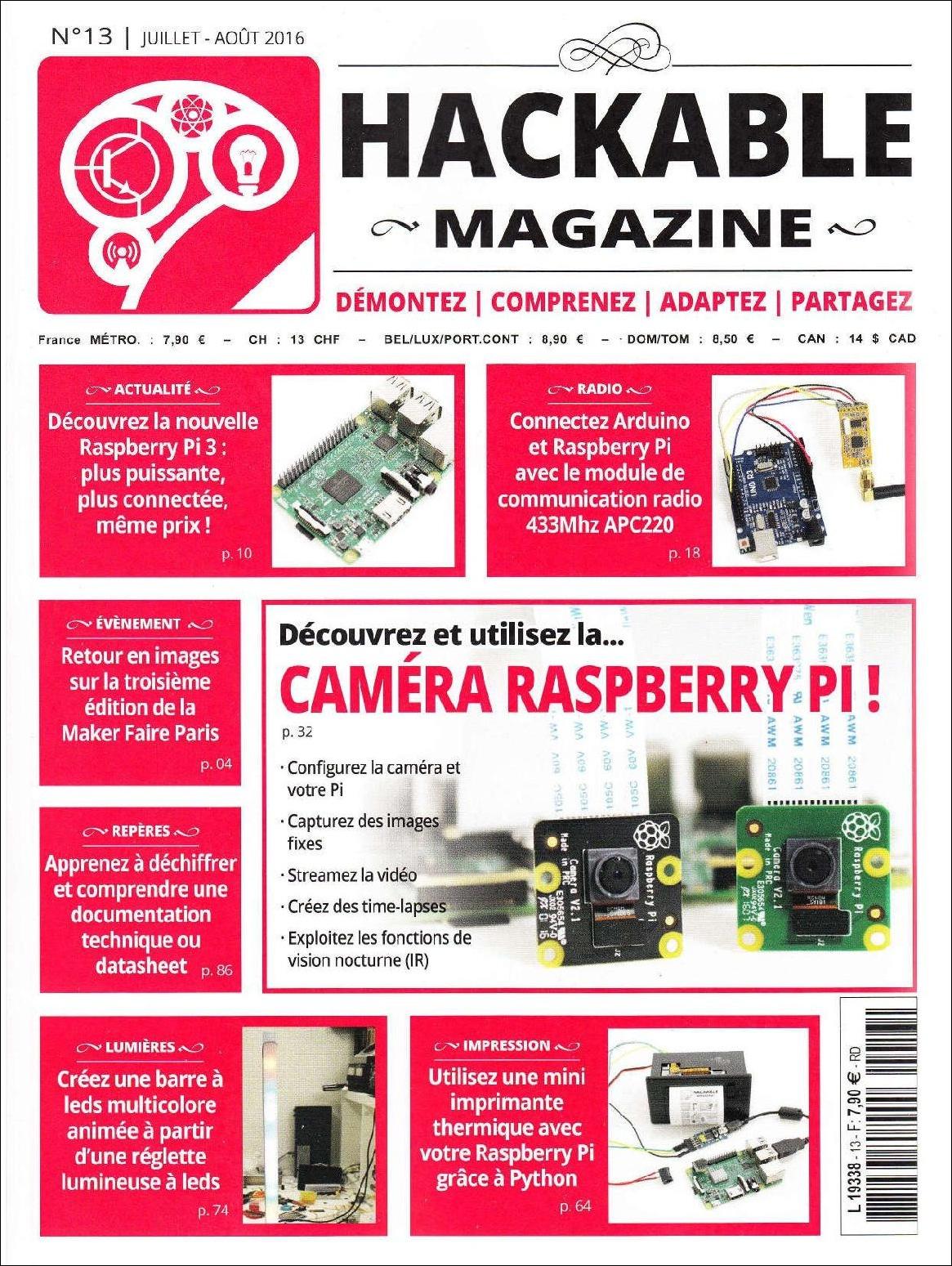 Hackable Magazine N°13 - Juillet/Août 2016