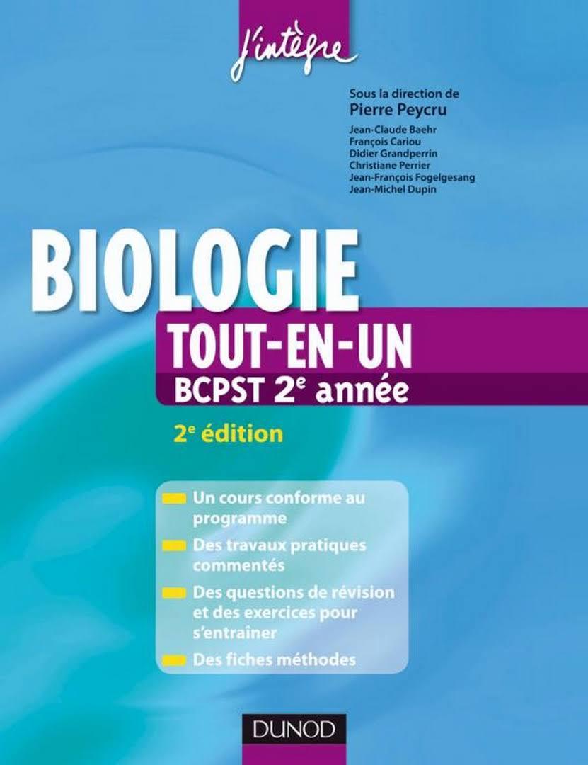 Biologie tout-en-un 2e année BCPST : Cours, TP, exercices, fiches méthodes
